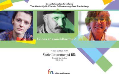 Skeiv litteratur på Blå – tirsdag 7. mars