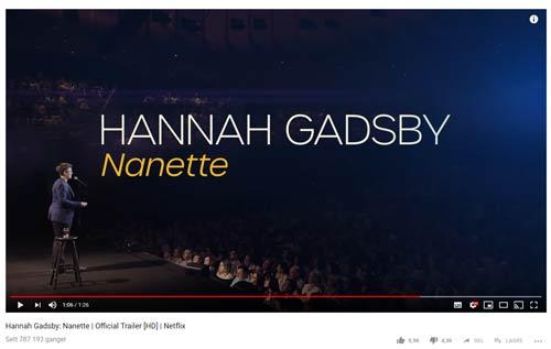 Se Hannah Gadsbys Nanette, anbefaler Thomas André Syvertsen.