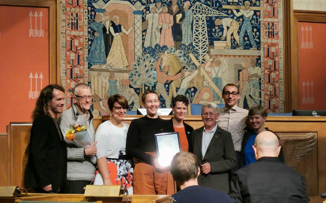 FRI OA tildelt seniorprisen 2019 av Oslo kommune