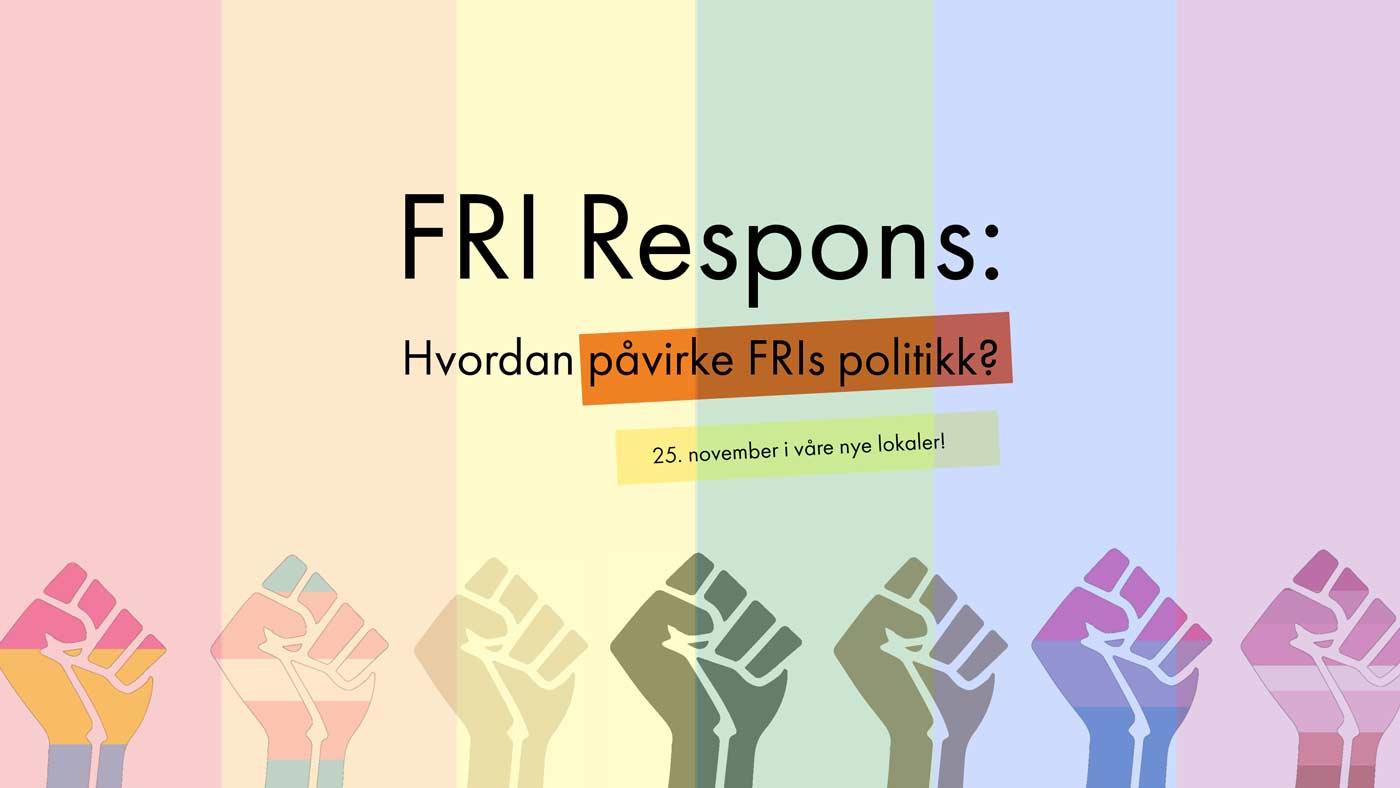 Hvordan kan du påvirke FRIs politikk? Er det saker du ønsker skal bli løftet opp? Eller lurer du på hvordan du kan fremme saker du ønsker FRI skal ha en mening om? Bli med på medlemsmøte i FRI Oslo og Akershus!