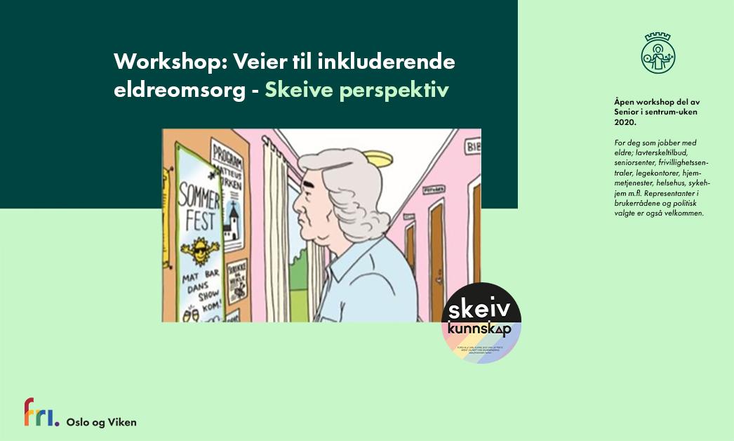 Inviterer til workshop: Veier til inkluderende eldreomsorg – Skeive perspektiv