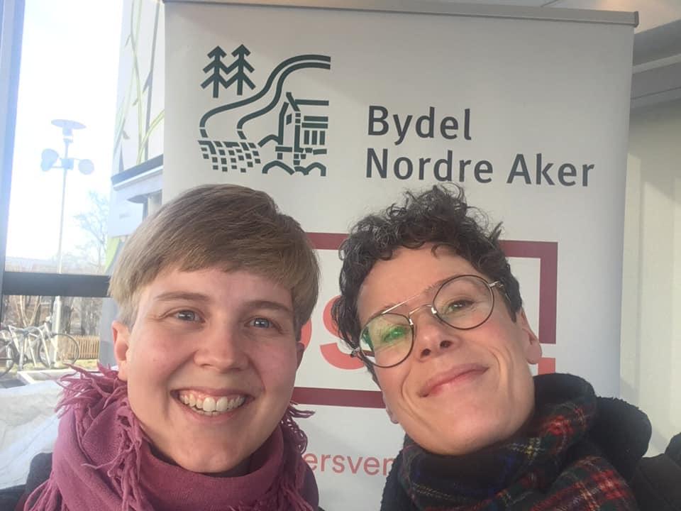 Hanna Christophersen og Janne Bromseth holder kurs i Bydel Nordre Aker, 2020