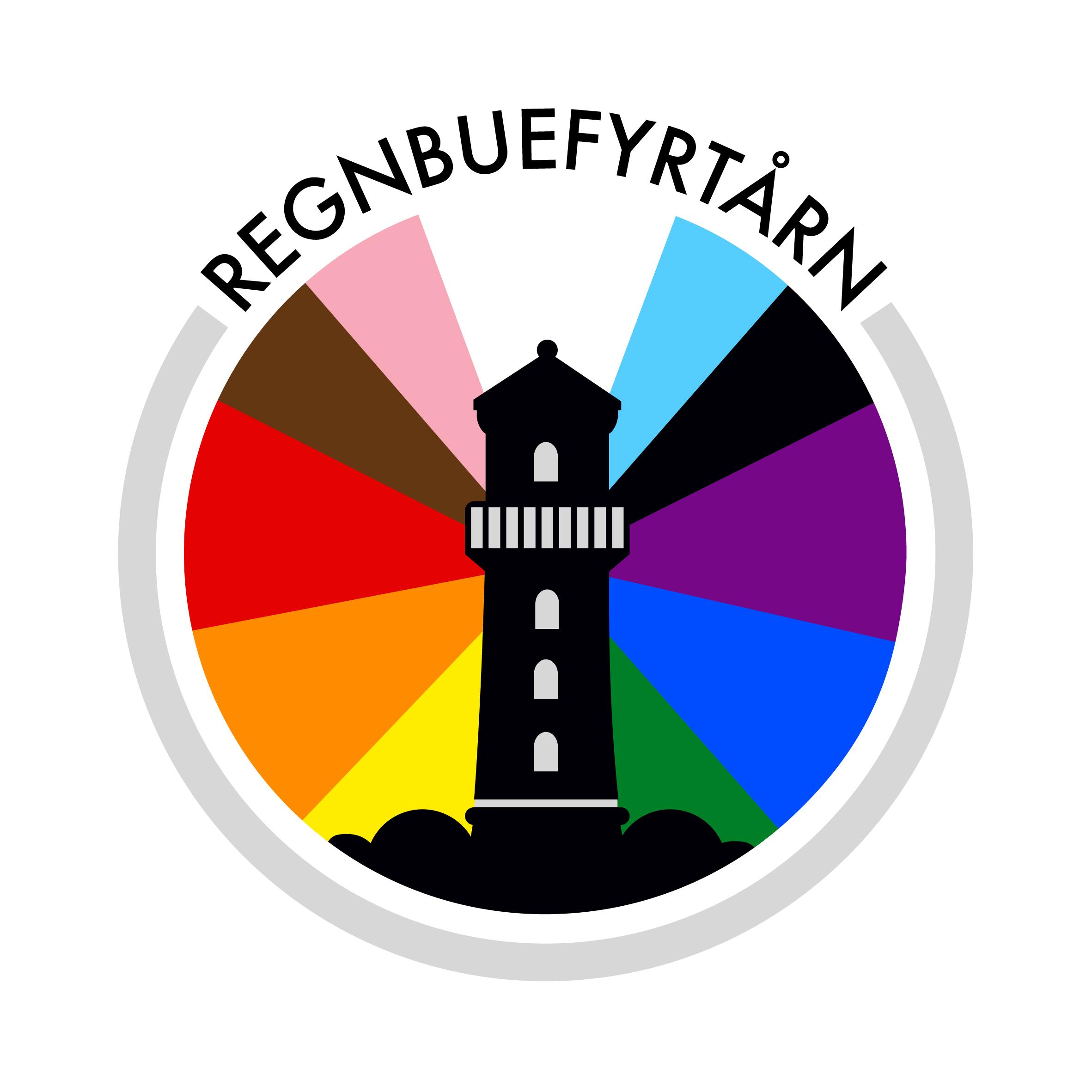 Regnbuefyrtårn logo