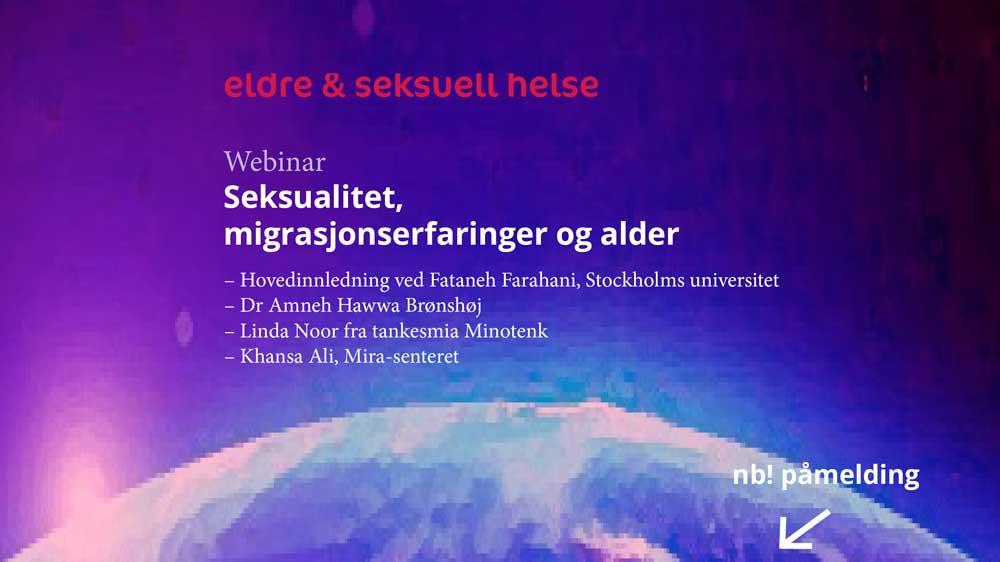 Webinar: Seksualitet, migrasjonserfaringer og alder